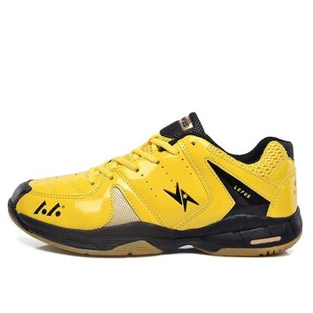 Man Wear-Resistant Volleyball Shoes Sports Stability Anti-Slip Ping Pong Shoes Breathable Cushioning Table Tennis Shoes AA11107