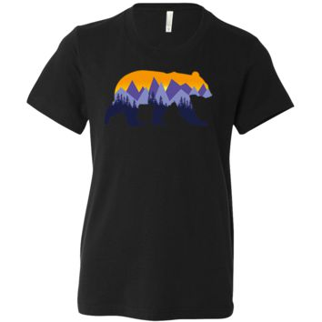 California Mountain Sunset Bear Asst Colors Youth T-Shirt/tee