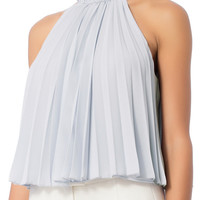 Exclusive for Intermix Leann Pleated Sleeveless Top at INTERMIX | Shop Now | Shop IntermixOnline.com