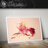 Red Tide - Digital Print - INSTANT DOWNLOAD