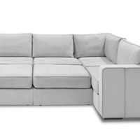 Moon Pit | 8 Bases + 10 Sides | Huge Sectional Sofa, Large Sectional Couch, Movie Room Furniture, Home Theater Furniture