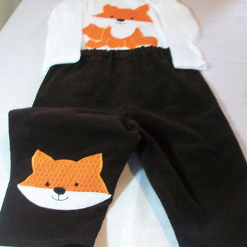 12 Month Boy Clothes - Baby Boy Outfit - Fox Boy Clothes - Baby  Pants Set - Fox Bodysuit