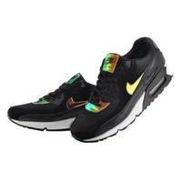 Men s Women s Nike Air Max 90 Premium Shoes Iridescent Black 333888 035