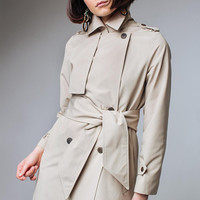 Beige Trench Coat Beige Outwear Long Trench Coat Trenchcoat Beige Trench Ladies Trench Coat