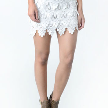 Tiered Lace Skirt ONLY SA60012