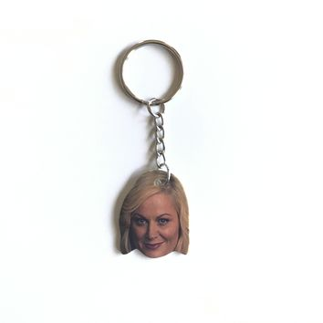Leslie Knope Inspired Keychain