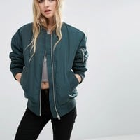 ASOS Luxe Padded Bomber Jacket at asos.com