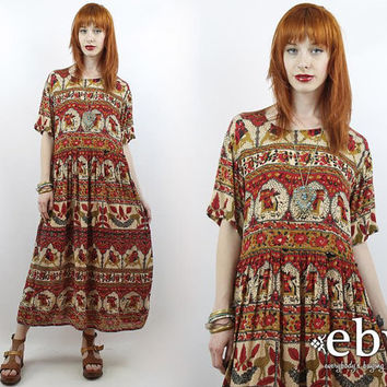 8315f93789e Hippie Dress Indian Dress Hippy Dress Bohemian Dress Vintage 90s