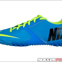 Nike FC247 Bomba II Turf Soccer Shoes - Current Blue with Volt - SoccerPro.com