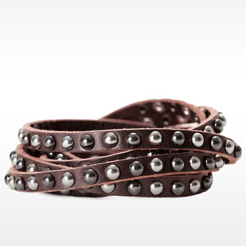 Double Wrap Mixed Stud Bracelet