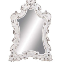 White Rustic Baroque Decorative Mirror