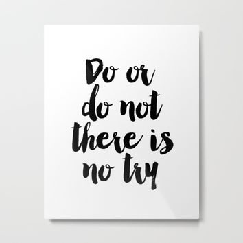 Do Or Do Not There Is No Try - Yoda - Inspirational Quote - Dictionary Print Book Art Print Metal Print by PrintableLifeStyle