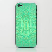 Radiate (Gold Teal) iPhone & iPod Skin by Jacqueline Maldonado | Society6