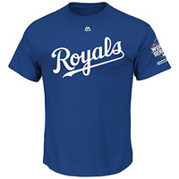 Kansas City Royals MLB Youth 2015 World Series Champions Patch T-Shirt (Youth Medium 10/12)