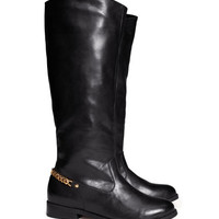 Imitation Leather Riding Boots - from H&M