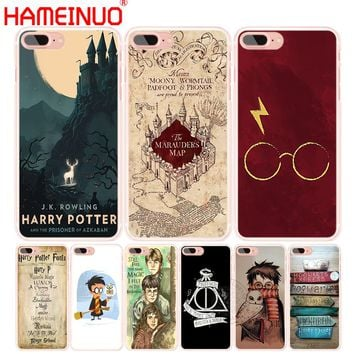 HAMEINUO Marauders Map Harry Potter DEATHLY HALLOW QOUTES phone Cover case for iphone 6 4 4s 5 5s SE 5c 6s 7 8 X plus