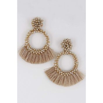 Tassel Earrings -Natural