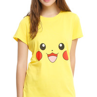 Pokemon Pikachu Big Face Girls Costume T-Shirt