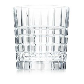 Tiffany & Co. | Item | Plaid double old-fashioned glass in hand-cut crystal. | United States