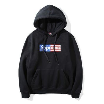 American Flag Supreme Long Sleeve Sweatershirt Hoodies