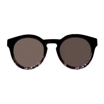 Alexia Two-Toned Round Sunglasses