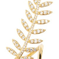 Women's Alex Mika 'Feather Leaf' Ring - Yellow Gold