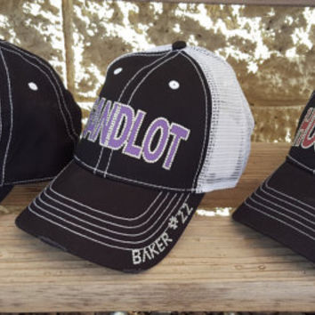 Football Mom Bling Hats, Trucker hat style with and without mesh backs, many colors available!