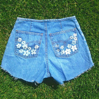 Hippy high waisted daisy and dragonfly shorts by WestCoastCuties