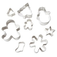 Wilton 8 Piece Christmas Metal Cookie Cutter Set