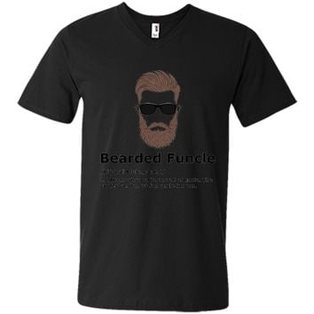 Mens Bearded Funcle Shirt Funny Uncle Definition T-Shirt