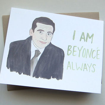 AVERY CAMPBELL I AM BEYONCE ALWAYS MICHAEL SCOTT CARD