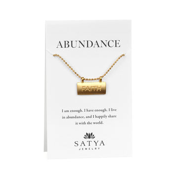 Power of Faith Carded Gold Necklace
