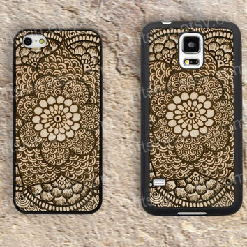 Knitting flowers  Mandala iphone 4 4s iphone  5 5s iphone 5c case samsung galaxy s3 s4 case s5 galaxy note2 note3 case cover skin