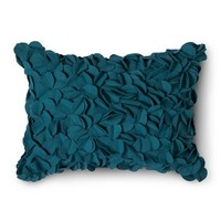 Boho Boutique® Textured Decorative Pillow - Teal