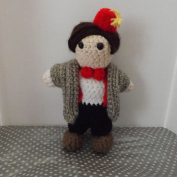 Dr. Who doll. Crocheted 11th Doctor Matt Smith