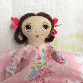 Textile doll Interior doll Handmade doll Gift for girl OOAK