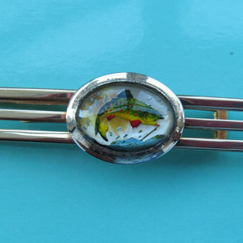 Vintage Anson tie clip with jumping fish