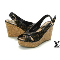 Louis Vuitton Women Fashion Platform Heels Sandals Shoes