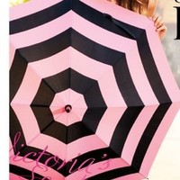 Victoria's Secret 2013 Limited Edition Pink and Black Striped Umbrella