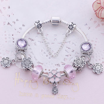 Shiny Stylish Gift Great Deal New Arrival Awesome Ladies Hot Sale Accessory Pink Bracelet [10893370831]