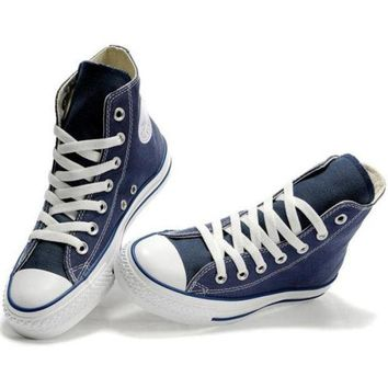 "Navy Blue ""Converse"" Fashion Canvas Flats Sneakers Sport Shoes"