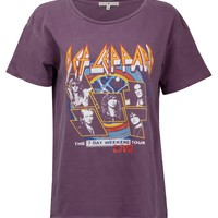 Purple DEF LEPPARD Band Tee by Junk Food