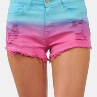 Sun Kissed Shorts - Pink/Blue