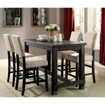 Furniture of America Telara Contemporary Antique Black Counter Height Dining Table | Overstock.com Shopping - The Best Deals on Dining Tables