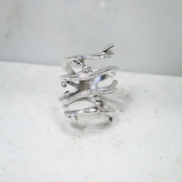 Out On A Limb Ring in Silver