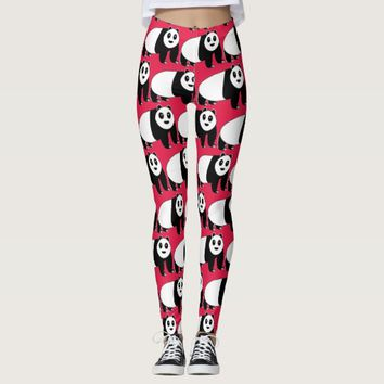 Panda Bear Overload Cute Leggings