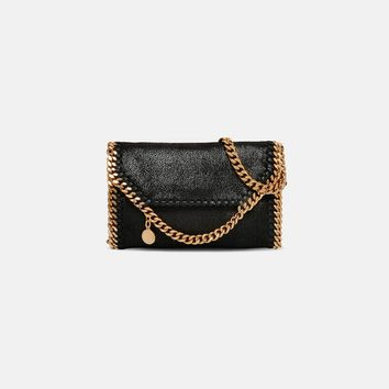 Black Falabella Shaggy Deer Tiny Fold Over Tote - Stella Mccartney