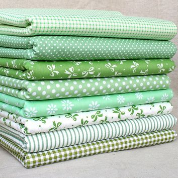 """Sewing Olive 8 Assorted Cotton Pre Cut Charm 10"""" Squares Quilt Fabric"""