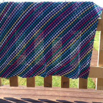Christmas in July. crochet baby blanket, handmade, cotton, great for stroller, in many colors