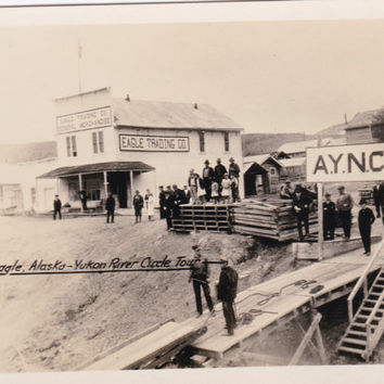 Vintage 1930s Snapshot Photo Eagle Alaska Yukon River